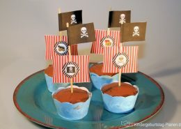 Piratenboot-Cupcakes