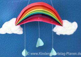 DIY Regenbogen Mobile